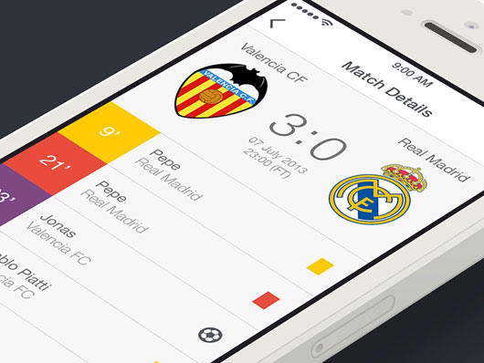 30 Awesome Football App Designs for Your Inspiration | OmahPSD