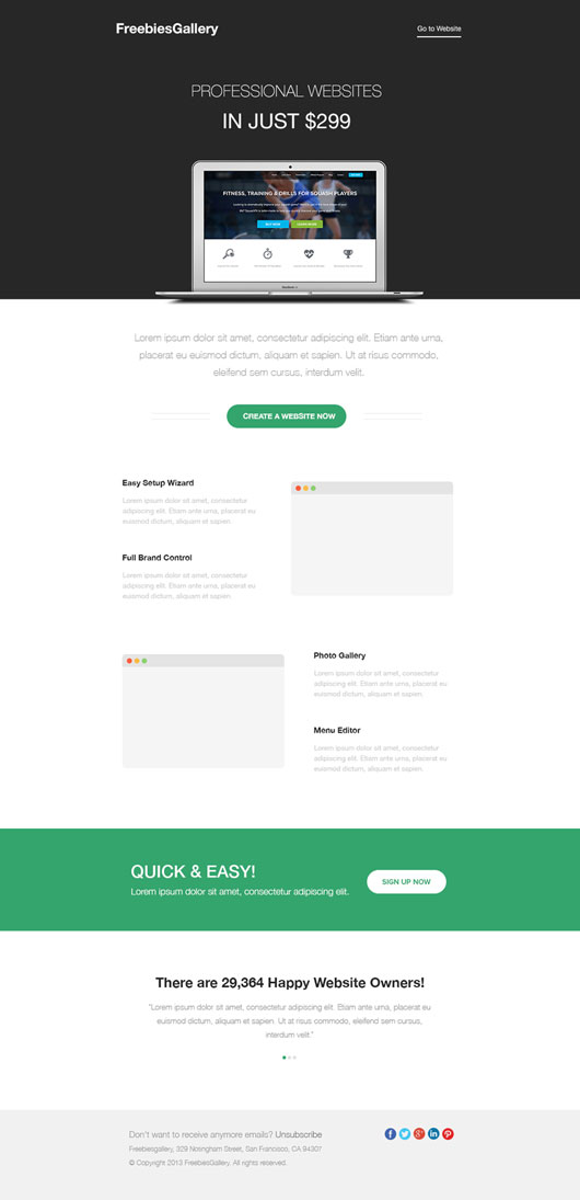 Free html email professional newsletter template omahpsd free html email template spiritdancerdesigns Image collections