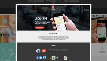 Flate Mobile App Landing Page