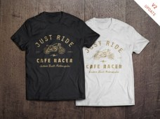 Free T-Shirt Design Mockup by GraphicBurger