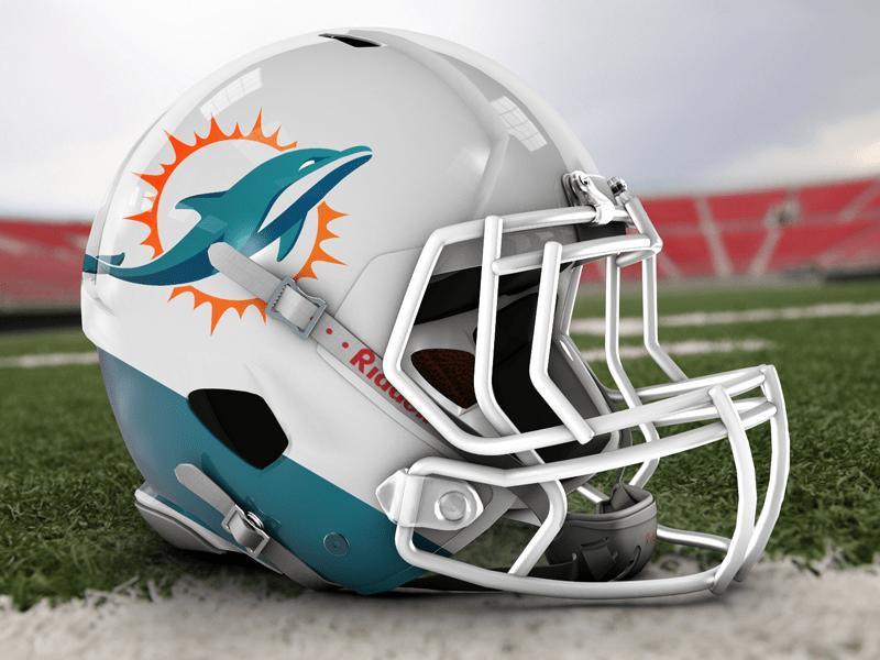 Dolphins Helmet Mockup