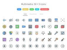 Free Multimedia - Pioneer Icons