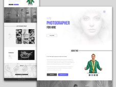 Free Photographer Portfolio Website by Saim Ahmed