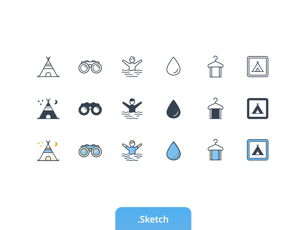 Outdoor / Camping Icon set