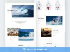 Surfing Free Website Template