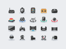 Virtual Reality Icons by Sunbzy