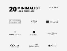 20 Minimalist Logo Template by Pixelo Team