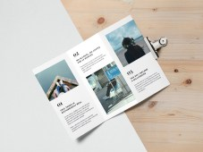 Free Tri Fold Brochure MockUp #2 by Graphicburger