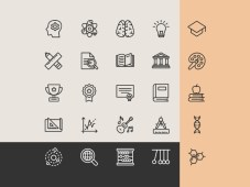 Free Education Icons - Line Icon Set by Graphicpear