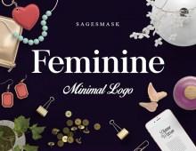 Free Feminine Minimal Logo Creator by Sages Mask