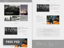 History Bits Magazine PSD Template by Henry Reyes