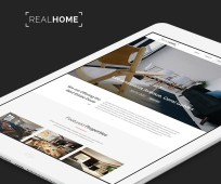 Real Home Website PSD Template by PixelBuddha