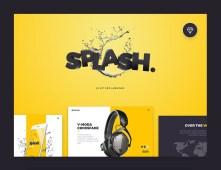 Free 20 Splash UI Kit Screens by Nick Parker