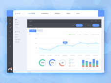 Free Simple Admin Dashboard by Malte Westedt