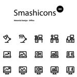 Smashicons: 80 Material Office Icons (AI, Sketch)