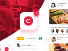 Edacious Free Food UI Kit by UI Spark
