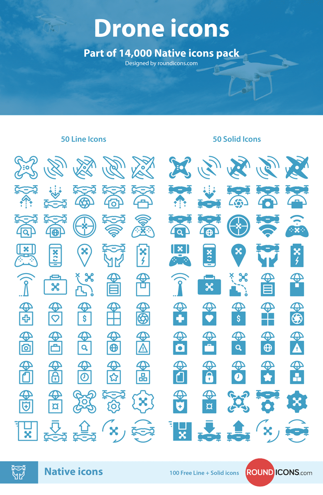 Free Drone Icons