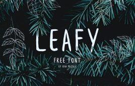 Leafy free brush font by Ieva Mezule