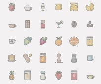 Food amp Drinks Icon Set by Iconshock