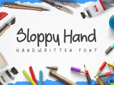 Sloopy Hand Free Handwritten Font by Bogdan Casota