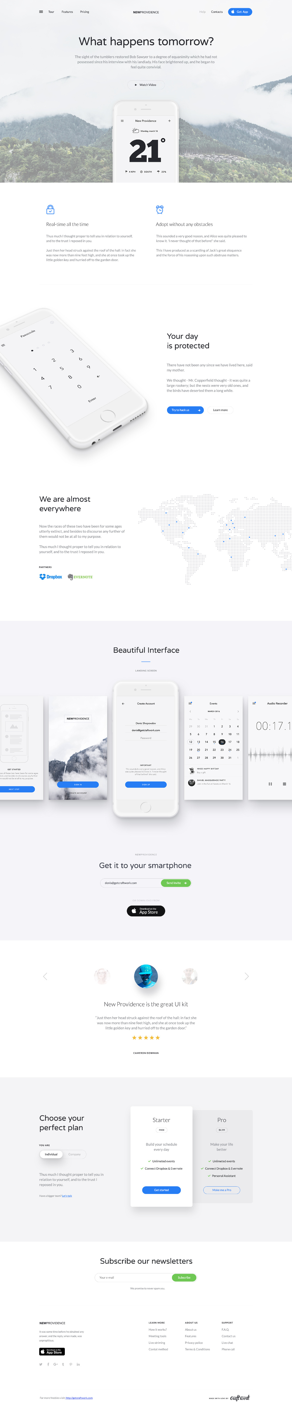 Free New Providence Landing Page