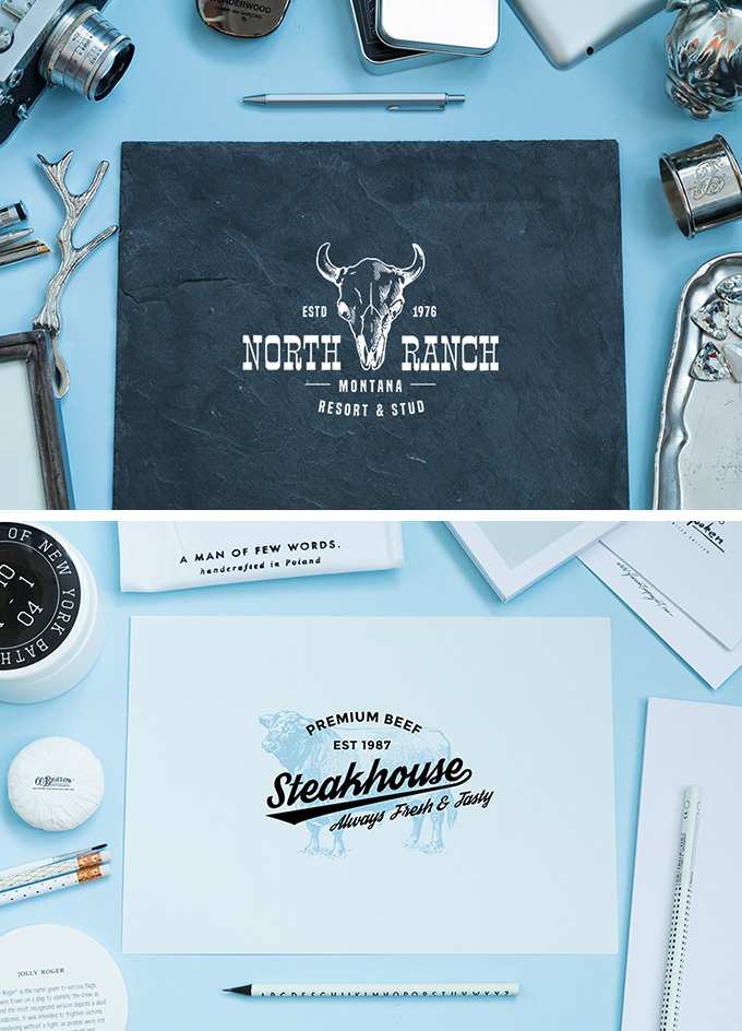 Free Light & Feather Mockups
