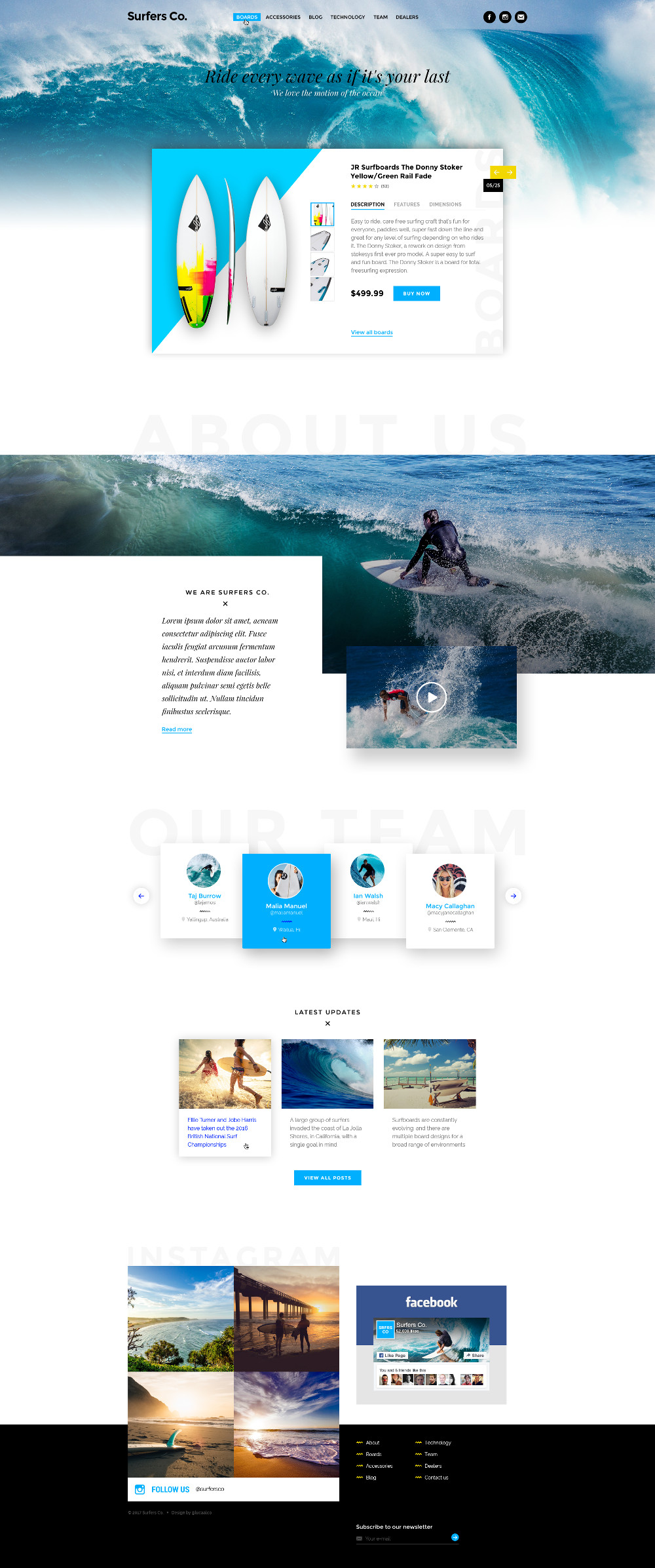 Free-Surfers Co Landing Page Template