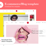 BR – Free eCommerce Website Template (Sketch)