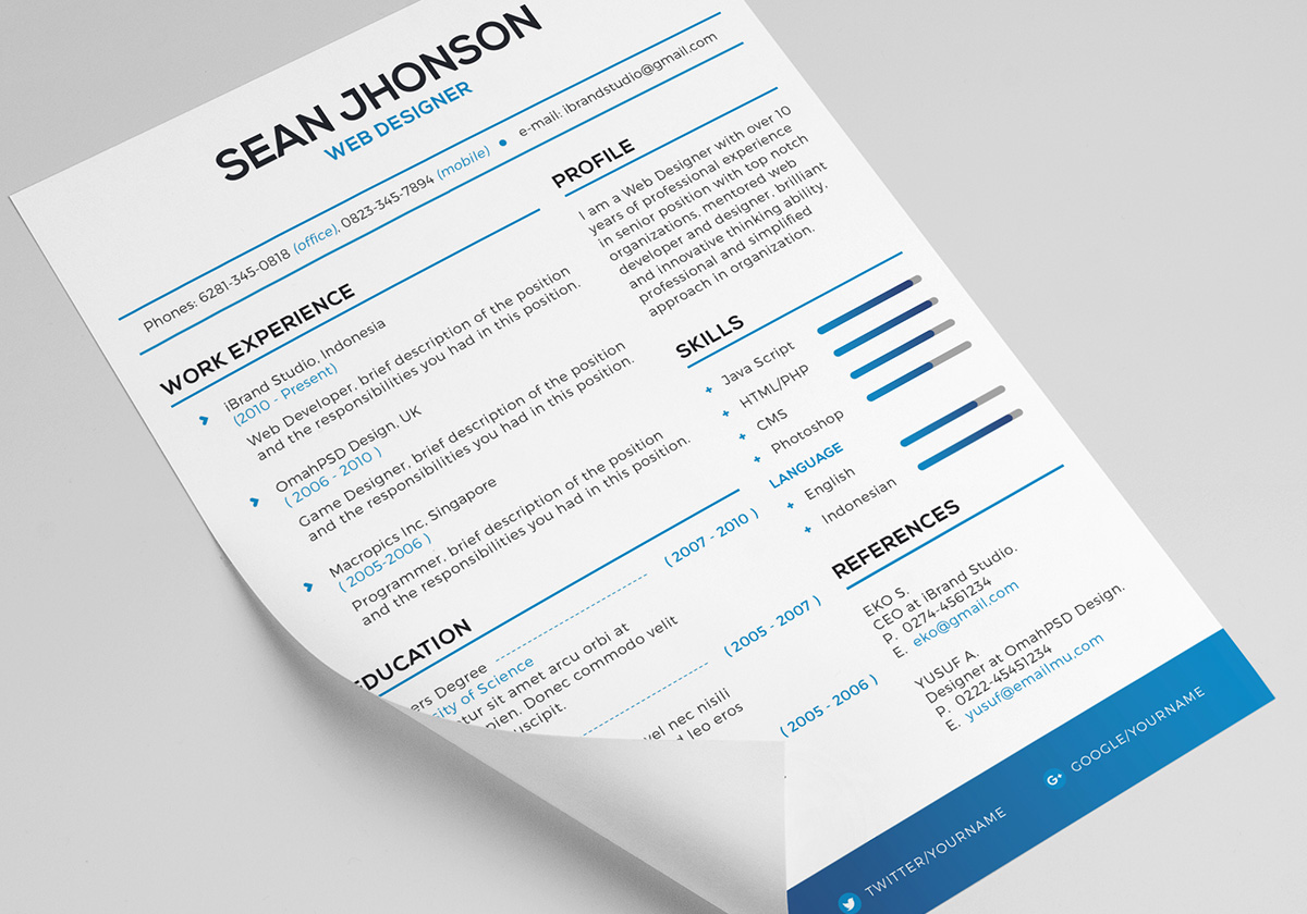 Resume Psd Template Free Malist Resume Template 43 Cover Letter Psd Omahpsd