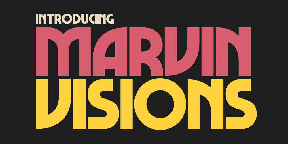 Marvin Visions Free Font (Bold, Uppercase)