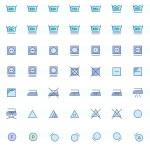 The Color Icons Set: Laundry (121 Icons, AI, EPS)