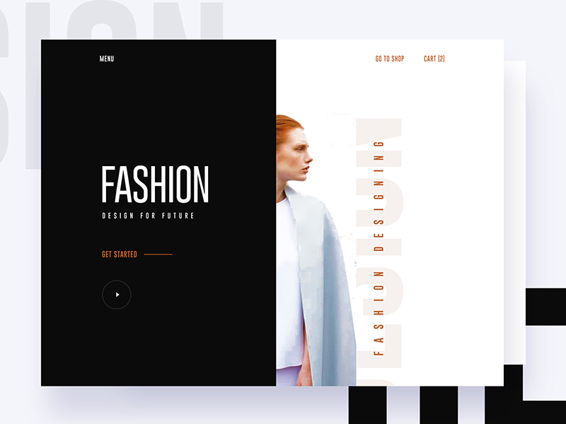 Free Fashion Design Website Template PSD