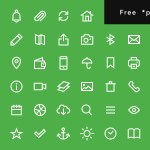 Free Uniicons (200 Line Icons, PSD)