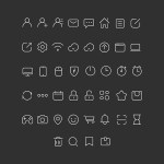Free 100 Stroke Icons (PSD)