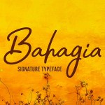 Bahagia Typeface – Free Download