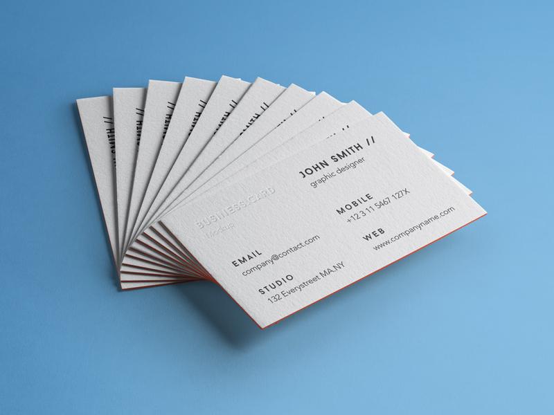 Business Card Mockup - Free PSD