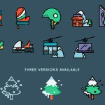 Free Winter Sports Icon Set (50 Icons, SVG and PNG)