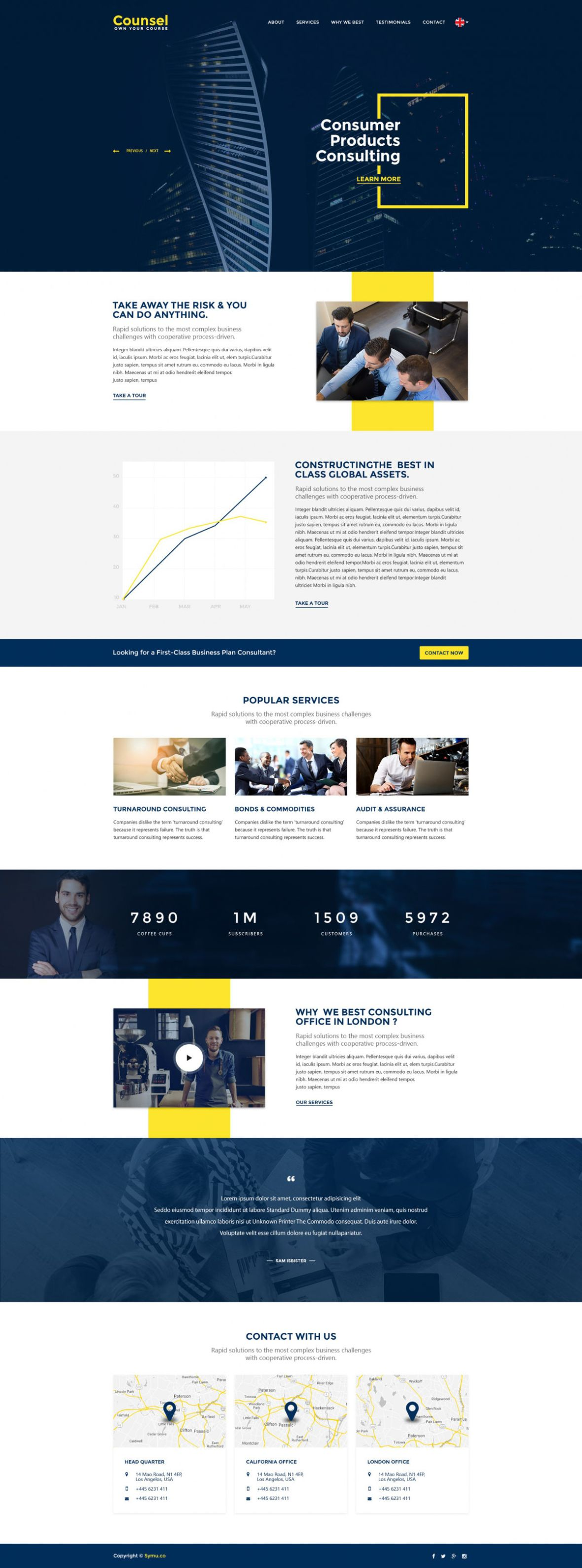 Counse - Free Business Website PSD Template