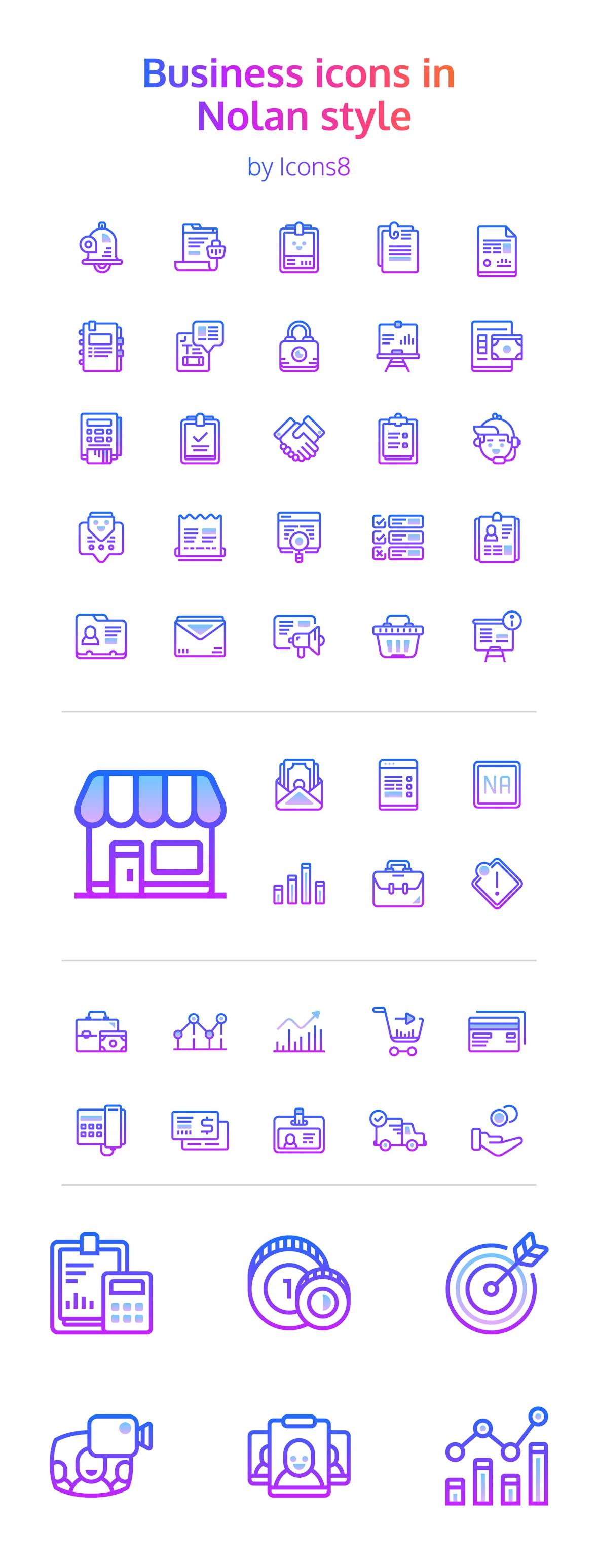 Free: 48 Nolan Business Icons