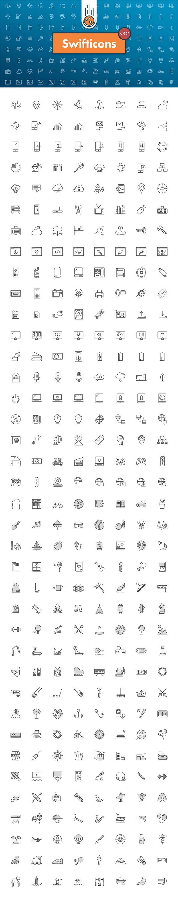 300+ Free Tech & Activities Icons