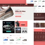 Sportshold eCommerce Landing Page PSD