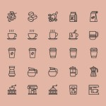 Free 25 Coffee Theme Icons (AI)