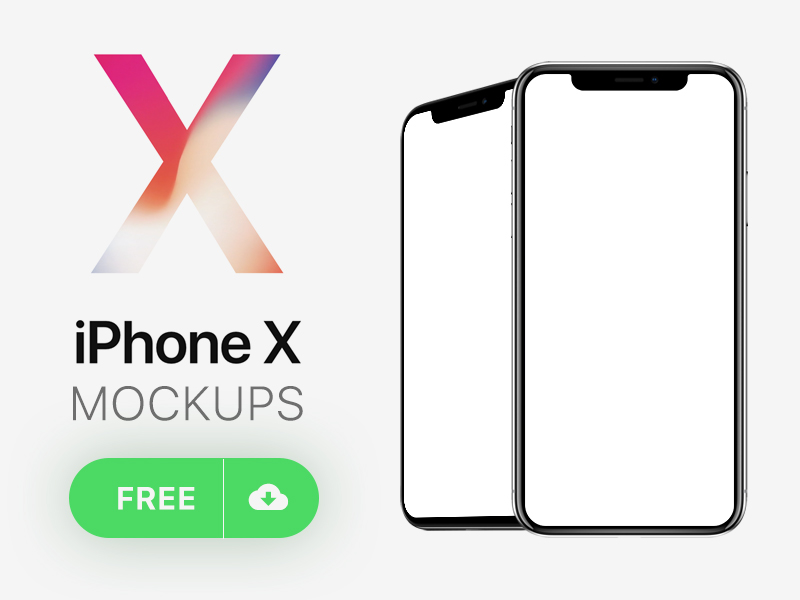 iPhone X Mockups Free Download