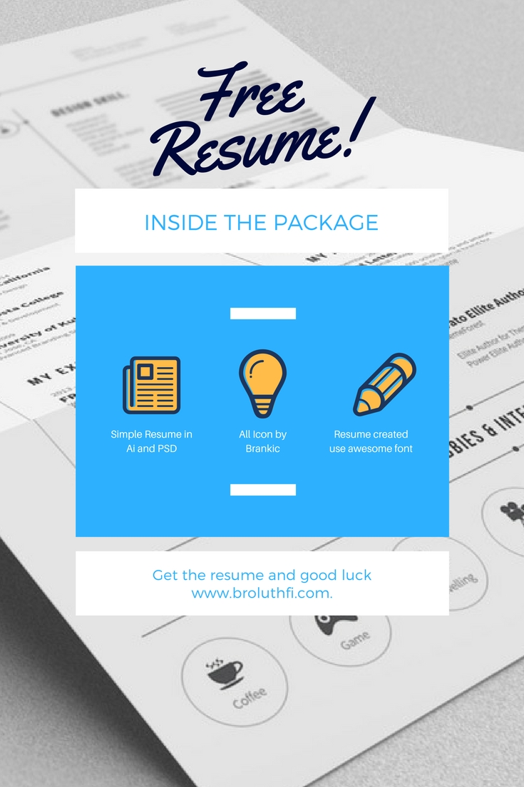 Free Resume Template in PSD and AI