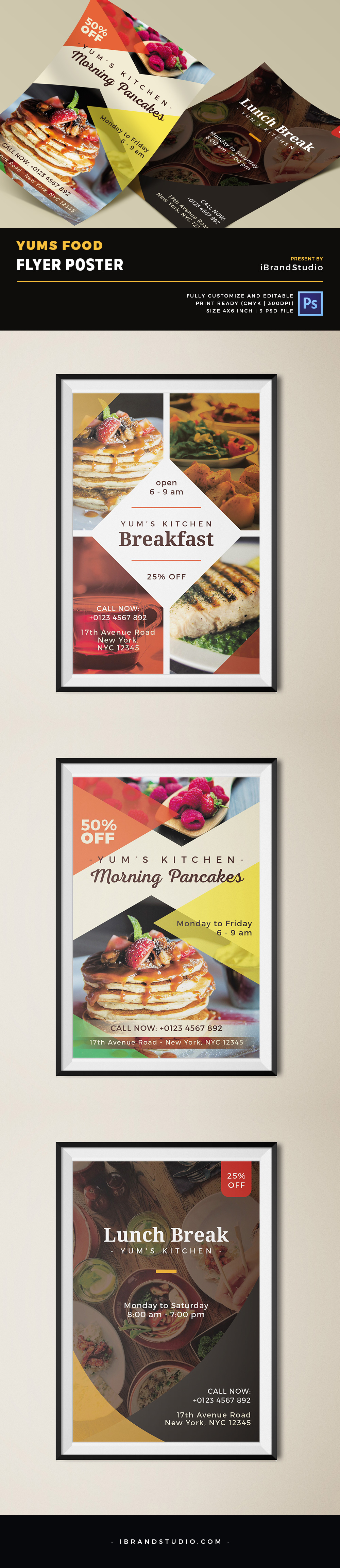Yums Food Flyer PSD Template