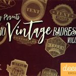 Free 10 Vintage Badges Vol. 1