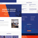 Free Lawyer Website PSD