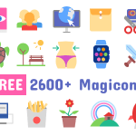 Magicons – 2867 Flat Icons