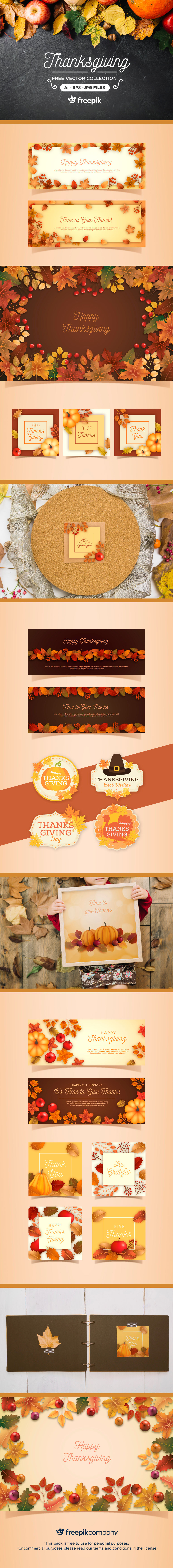 Free Thanksgiving Vector Collection