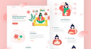 Covid-19 Landing Page Template